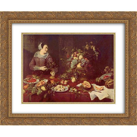 Frans Snyders 2X Matted 24X20 Gold Ornate Framed Art Print Fruit Seller