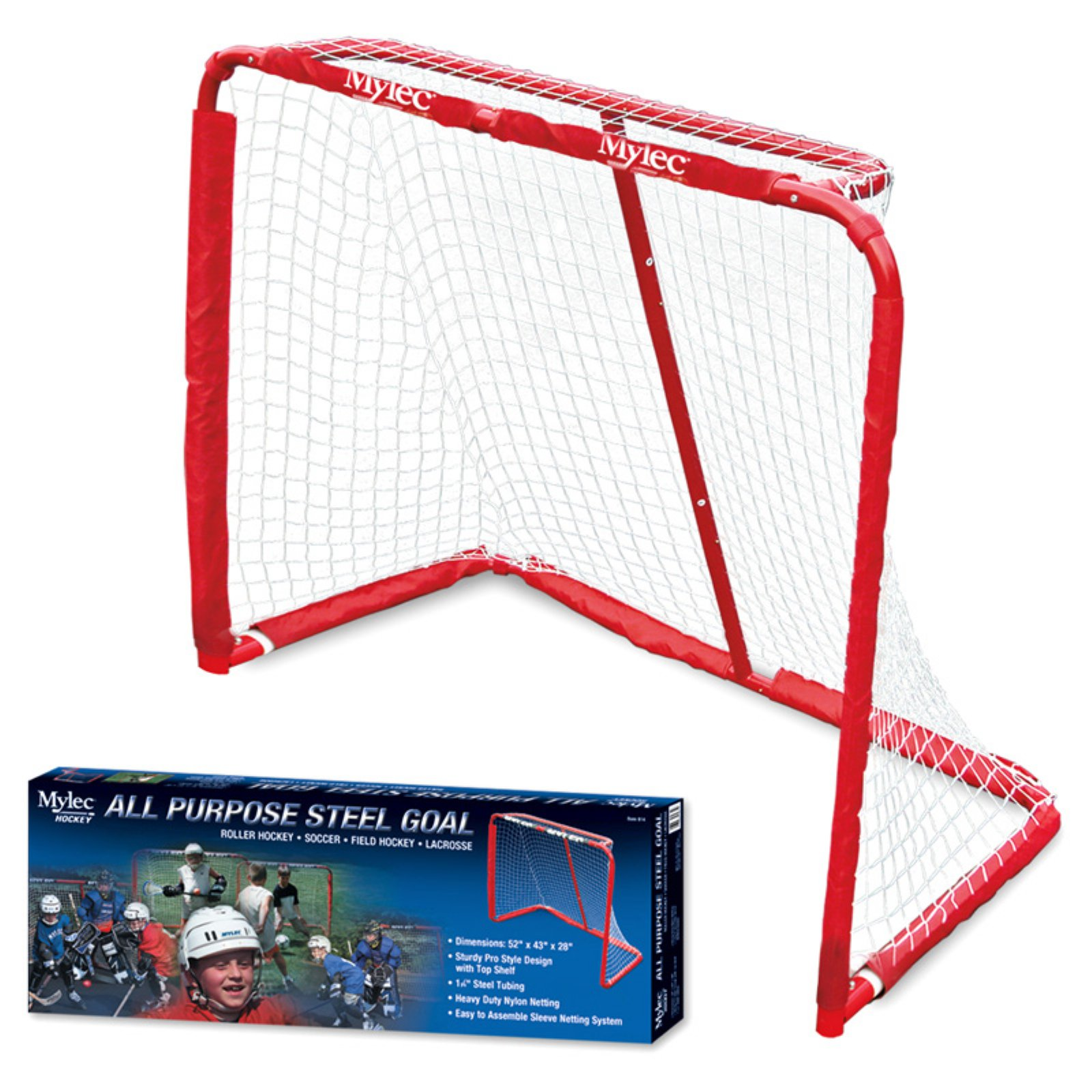 "Mylec Sports 52"" All Purpose Steel Goal for Hockey, Soccer, Field Hockey and Lacrosse"
