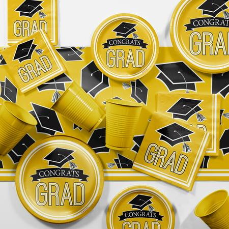 Graduation School Spirit Yellow Party Supplies Kit - Party Graduation