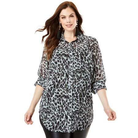 Roaman's Plus Size Georgette Tunic