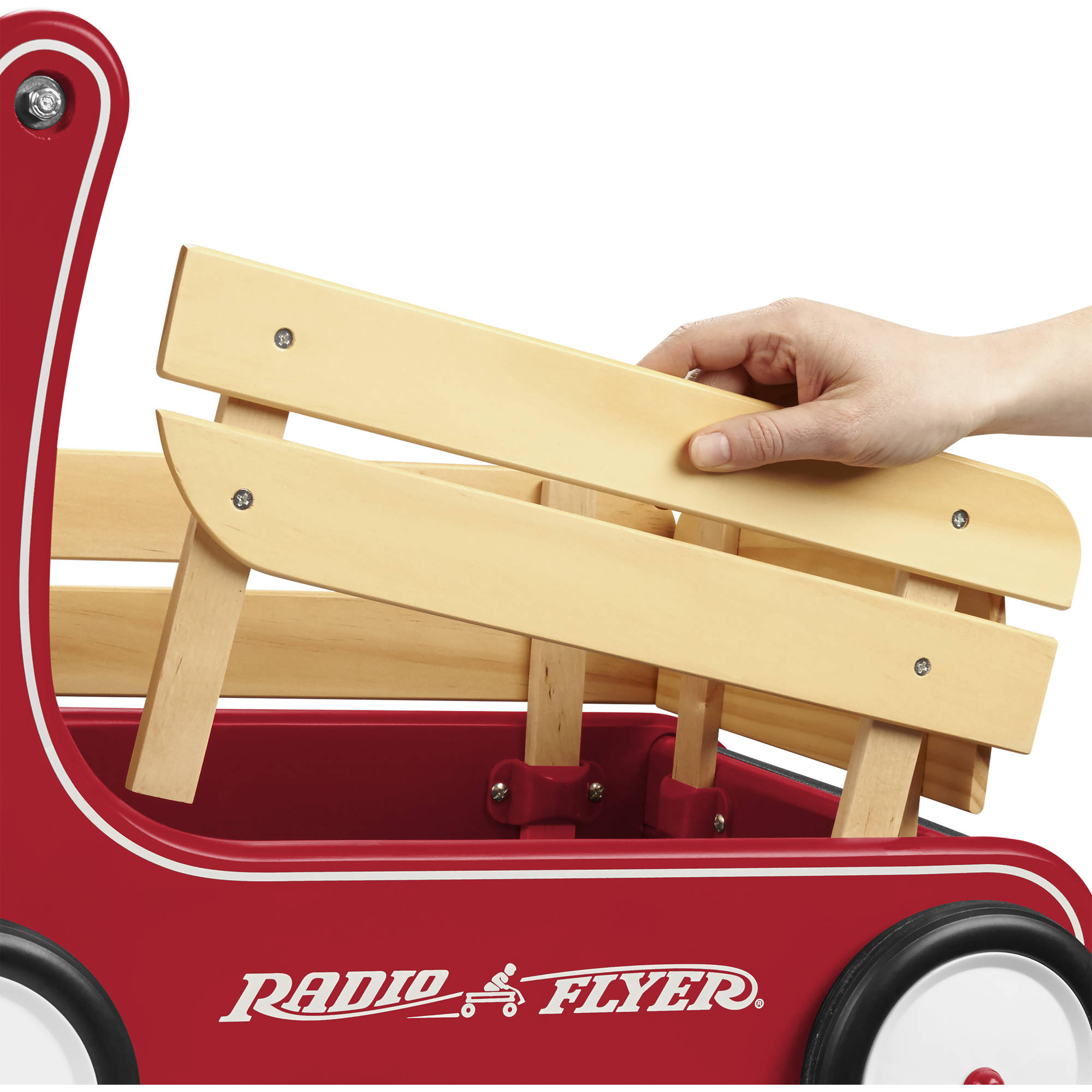 Radio Flyer Classic Walker Wagon Wood Push Walker Red Walmart Com Walmart Com