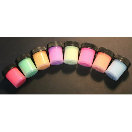 Glow in the Dark Acrylic Paint - 8 Color Set-15ml pots for $<!---->