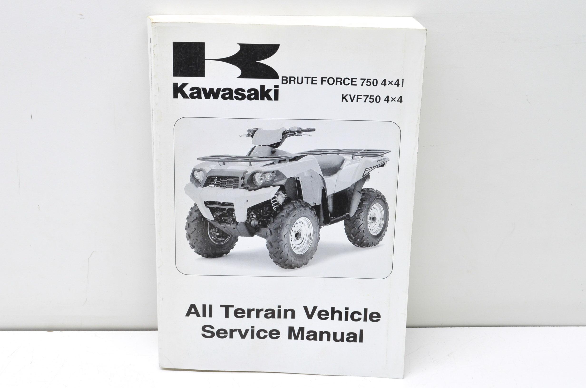 Kawasaki 99924-1394-01 2008 Brute Force 750 4x4i, KVF750 4x4 Service Manual  QTY 1 - Walmart.com