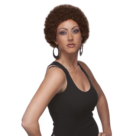Sepia Costume Mini Afro Synthetic Wig 8