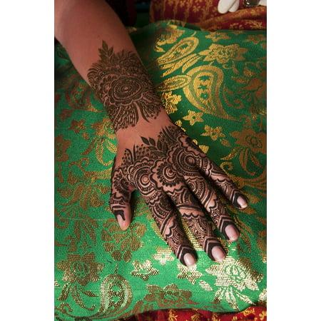 Peel N Stick Poster Of Mehndi Bride Henna Indian Design Mehndi