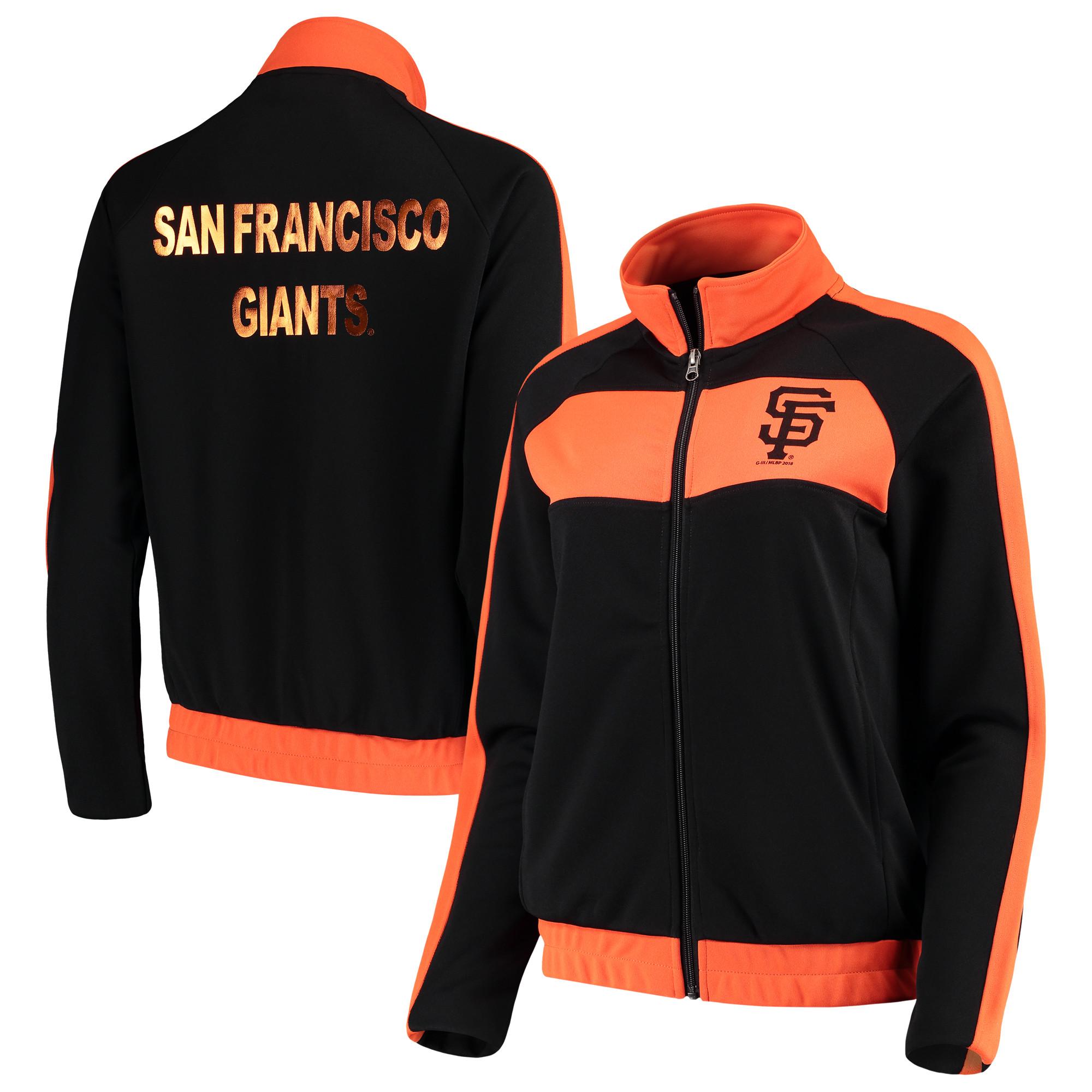 San Francisco Giants G-III 4Her by Carl Banks Women's Punt Track Jacket - Black/Orange