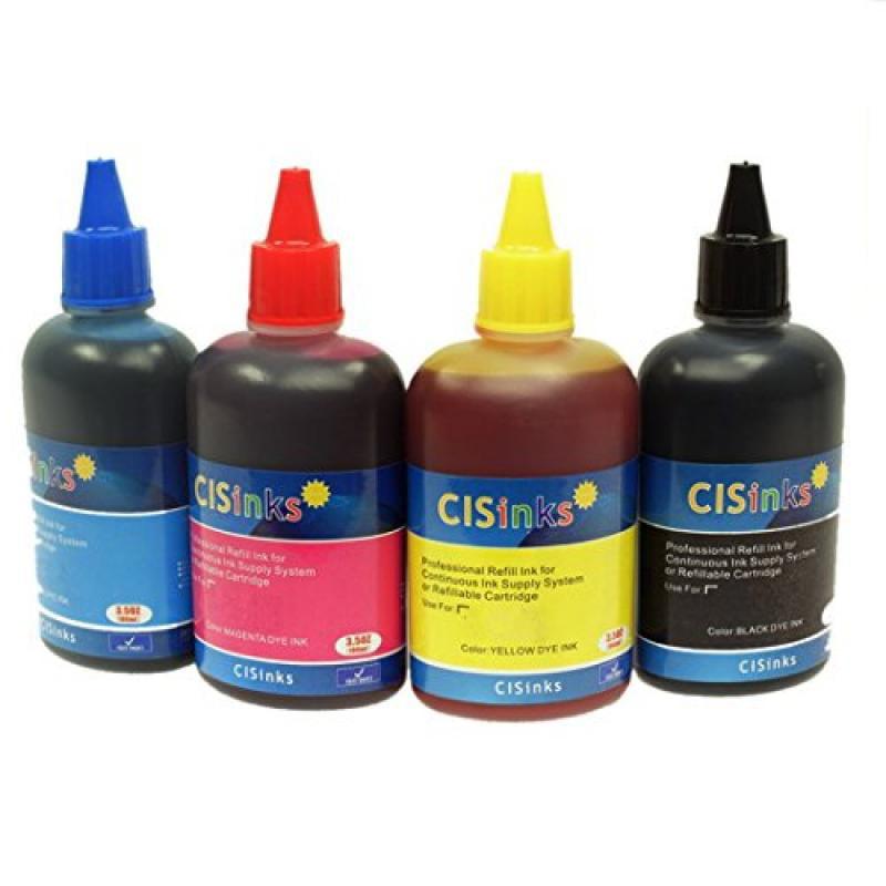 Cisinks Refill Ink Bottle SET – 4 Color 13.5oz / 400ml] f...