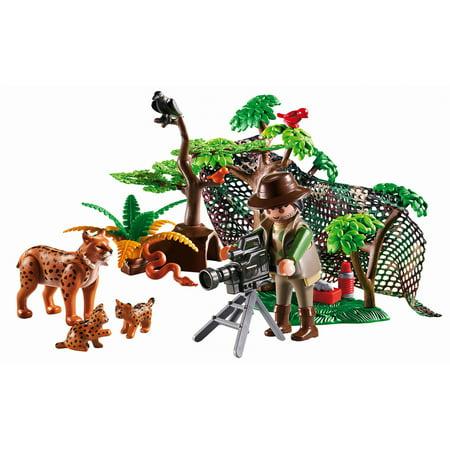 Playmobil Lynx Family With Cameraman
