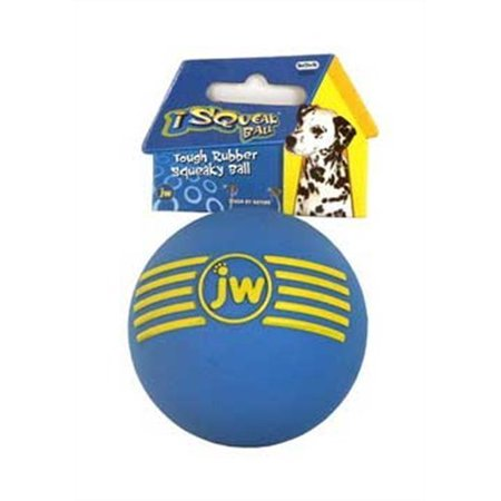JW Isqueak Ball Rubber Dog Toy Size:Medium Color:color may vary by JW