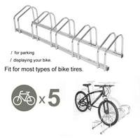 Yosoo 5 Racks Steel Bike Bicycle Floor Parking Stand Storage Rack Holder,  Bike Floor Stand, Bike Parking Rack