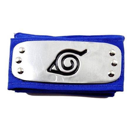 Hot Anime Naruto Costume Headband Leaf Village Logo Konoha Kakashi Tobi Obito (Blue)