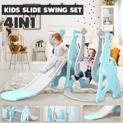 Toddler Climber and Swing Set, Kids Play Climber Slide Playset, Extra Long Slide and Ball, Easy Set Up Baby Playset