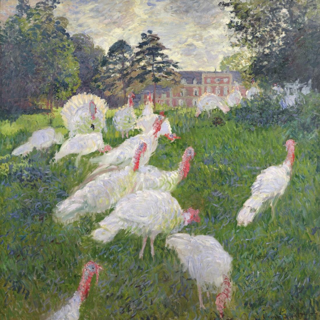 The Turkeys at the Chateau De Rottembourg, Montgeron, 1877 Impressionist  Turkey Painting Print Wall Art By Claude Monet - Walmart.com