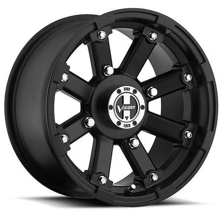 "Vision 393 Lockout ATV/UTV 14x7 4x156 +2.5mm Matte Black Wheel Rim 14"" Inch"