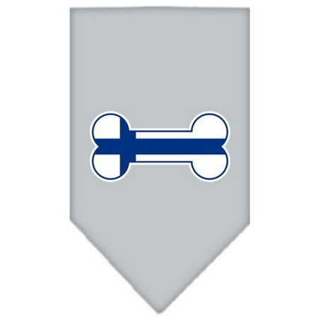 Image of Bone Flag Finland Screen Print Bandana Grey Small