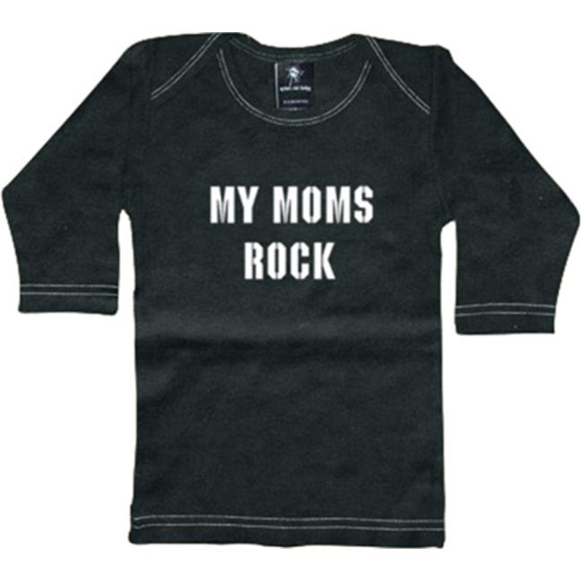 Rebel Ink Baby My Moms Rock Long Sleeve Tee Shirt