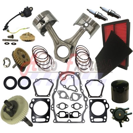 Rebuild Kit Fits Honda GX670 Piston GasketS Filter Connecting Fuel Pump (86 Camshaft Kit)