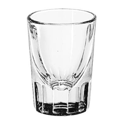 Whiskey Service Drinking Glasses, Fluted Lined Shot Glass, 1-1/2 Oz, 2-7/8&qu...