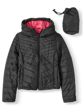 Delia*s Quilted Lightweight Packable Hooded Puffer Coat (Little Girls & Big Girls)