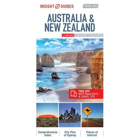 Insight guides travel map australia & new zealand - folded map: 9781786719027