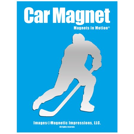 Ice Hockey Player Male Car Magnet Pose 3 - Make Your Own Car Magnet
