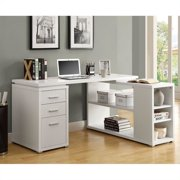 Kingfisher Lane L Shaped Computer Desk in White