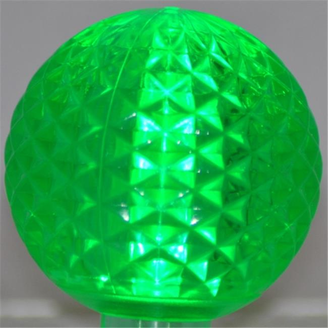 Queens of Christmas G50-RETRO-GR Green Retrofit G50 E17 Base LED Bulbs - Pack of 10