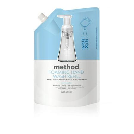 Method Foaming Hand Soap Refill, Sweet Water, 28 Ounce 7 Foam Soap
