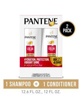 Pantene Shampoo and Conditioner Set, Radiant Color Shine, 12-12.6 oz