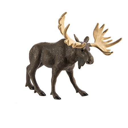 Safari Ltd Wild Safari North American Wildlife - Moose - Realistic Hand Painted Toy Figurine Model - Quality Construction From Safe and BPA Free Materials - For Ages 3 and Up Hand Painted Moose