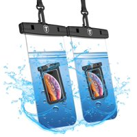 (2 Pack) Waterproof Case for Google Pixel 3, Pixel 3 XL, Pixel 3A, Pixel 3A XL, Pixel 2, Pixel 2 XL, Njjex IPX8 Waterproof Phone Pouch - Cellphone Dry Bag With Waist Strap -Clear