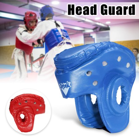 MMA Martial Arts Boxing Sparring Helmet - Karate Sparring Headgear Martial Arts Equipment Set Taekwondo Sparring Gear Set Karate Sparring Gear Set (Karate Gear)