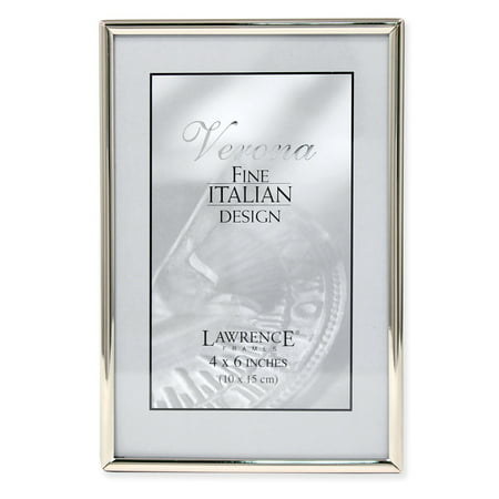 4x6 Simply Silver Metal Picture Frame Fan Picture Frame