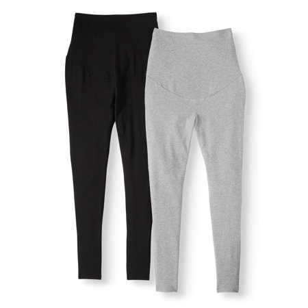 Time and Tru Maternity Legging, 2 Pack (Pregnant Plants)