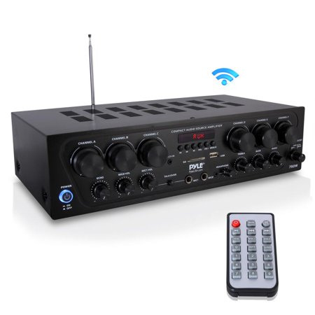 PYLE PTA62BT.5 - Bluetooth Home Audio Amplifier, 6-Ch. Audio Source Stereo Receiver System with FM Radio, MP3/USB/SD/AUX Playback (750 (Best Mid Priced Receiver)
