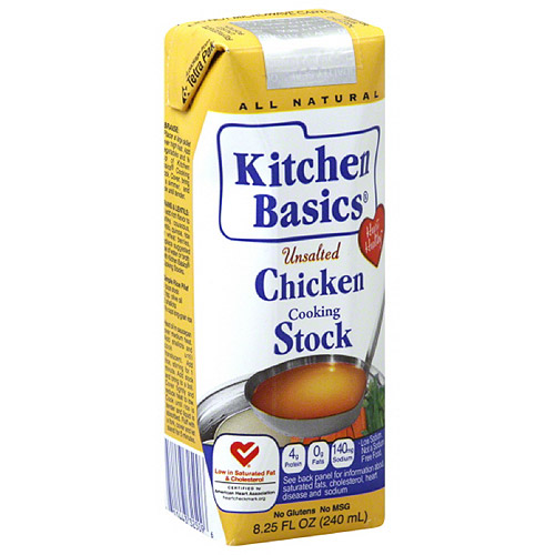 Kitchen Basics Cooking Chicken Stock, 8.25 fl oz, (Pack of 12)