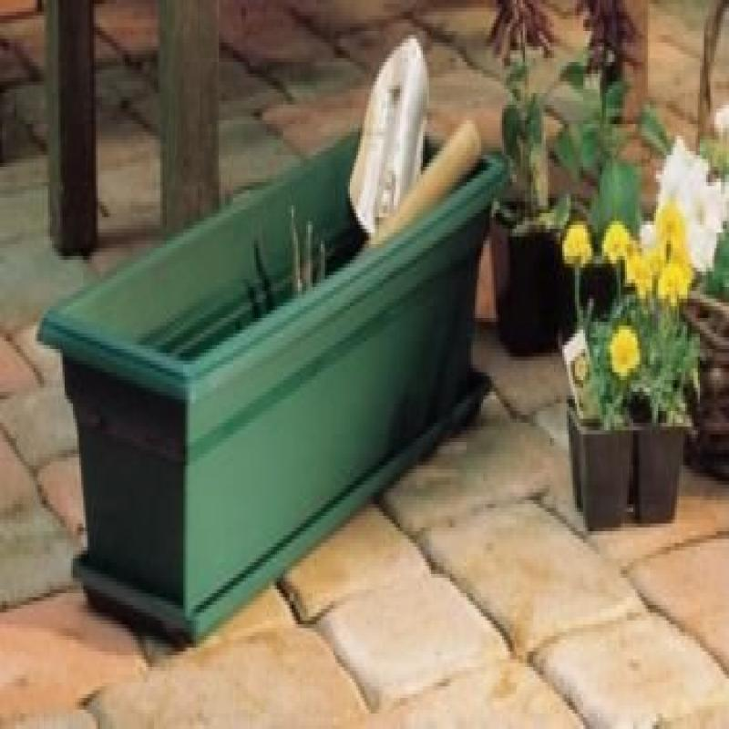 Novelty Countryside Flower Box,  Sage, 36-Inch