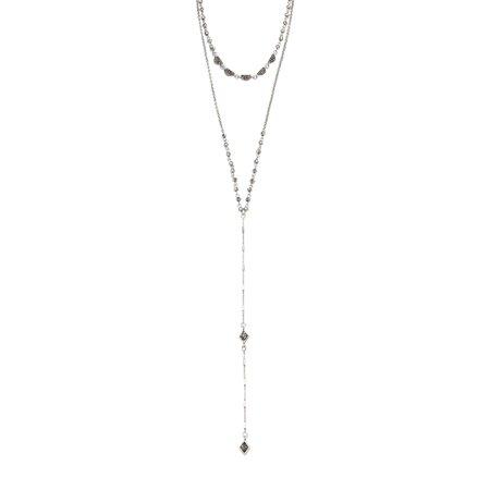 Double Row Y-Necklace Double Row Drop Necklace