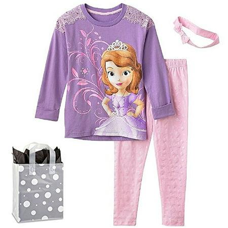 Disney Sofia the First Little Girls' Clothing Set & Bag Multi-Pack Gift Set