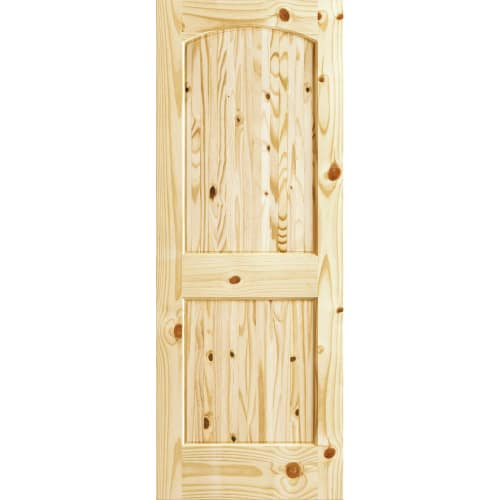 Frameport CKP-PD-RATV-6-2/3X3 Colonial Knotty Pine 36 Inch by 80 Inch Rebated Ar