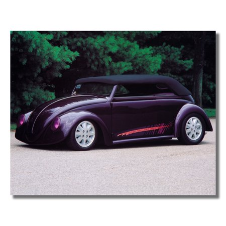 Purple Volkswagen VW Convertible Bug Car Photo Wall Picture 8x10 Art Print
