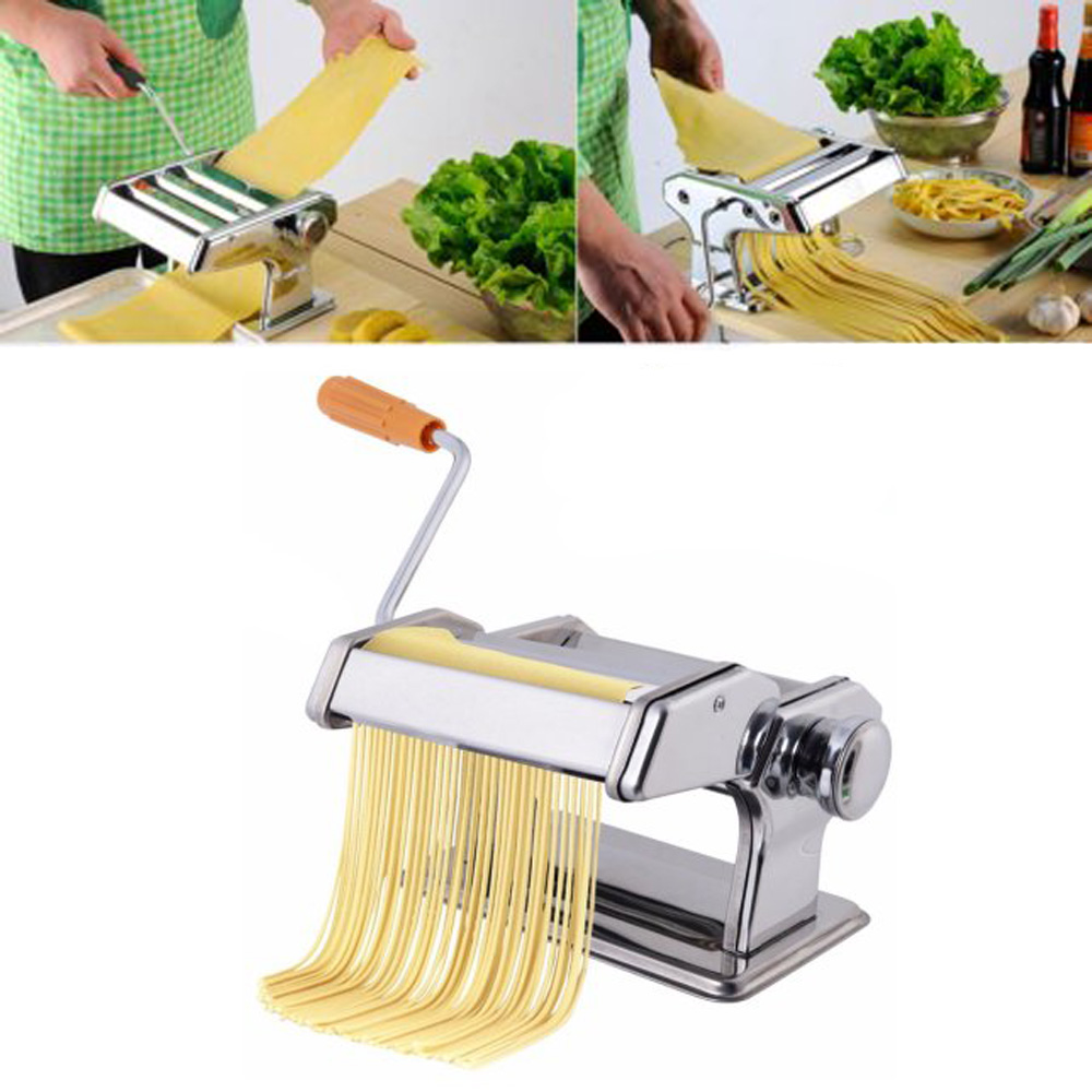 Zimtown Stainless Steel Fresh Pasta Maker Roller Machine for Fettuccine Spaghetti Noodle