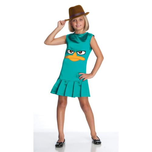 Phineas And Ferb Costumes For Kids (Phineas And Ferb Sassy Agent P Costume Dress Child Large)