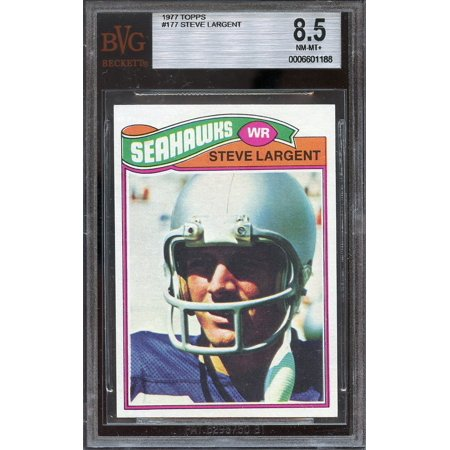 (1977 topps #177 STEVE LARGENT seattle seahawks rookie card BGS 8.5)