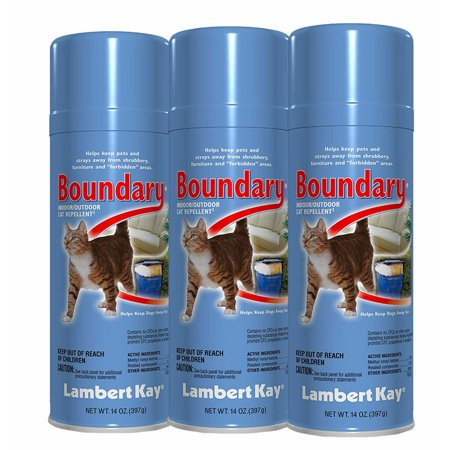 3 Lambert Kay Boundary Cat Pet Dog Repellent Spray Indoor Outdoor Training Aid 14 oz