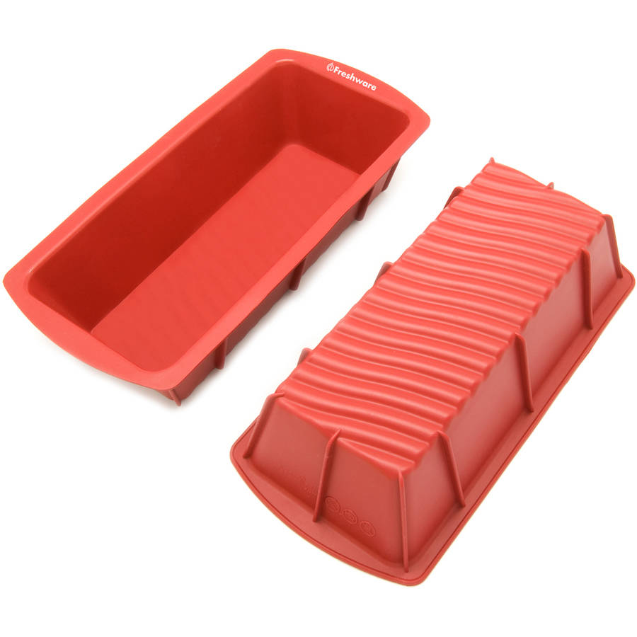 "Freshware 9"" Medium Loaf Silicone Mold/Loaf Pan for Soap, Cake and Bread, CB-103M"
