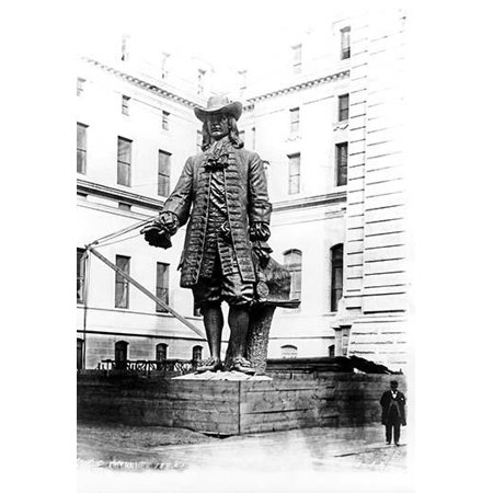 - Statue of William Penn in Courtyard of City Hall, Philadelphia, PA-Fine Art Canvas Print (20