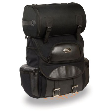Raptor Sissy Bar Bag (Milwaukee Medium Textile Two piece Touring Sissy Bar Bag )