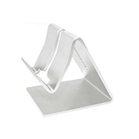 Mignova  Universal Solid Aluminum Alloy Metal Mobile Phone Desktop Stand Mount Holder Stander Cradle For Apple Iphone Samsung  Ipad And More  Silver