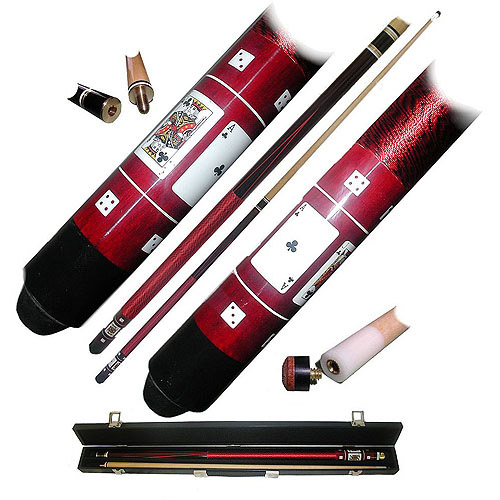 Red Royal Flush Poker Pool Stick